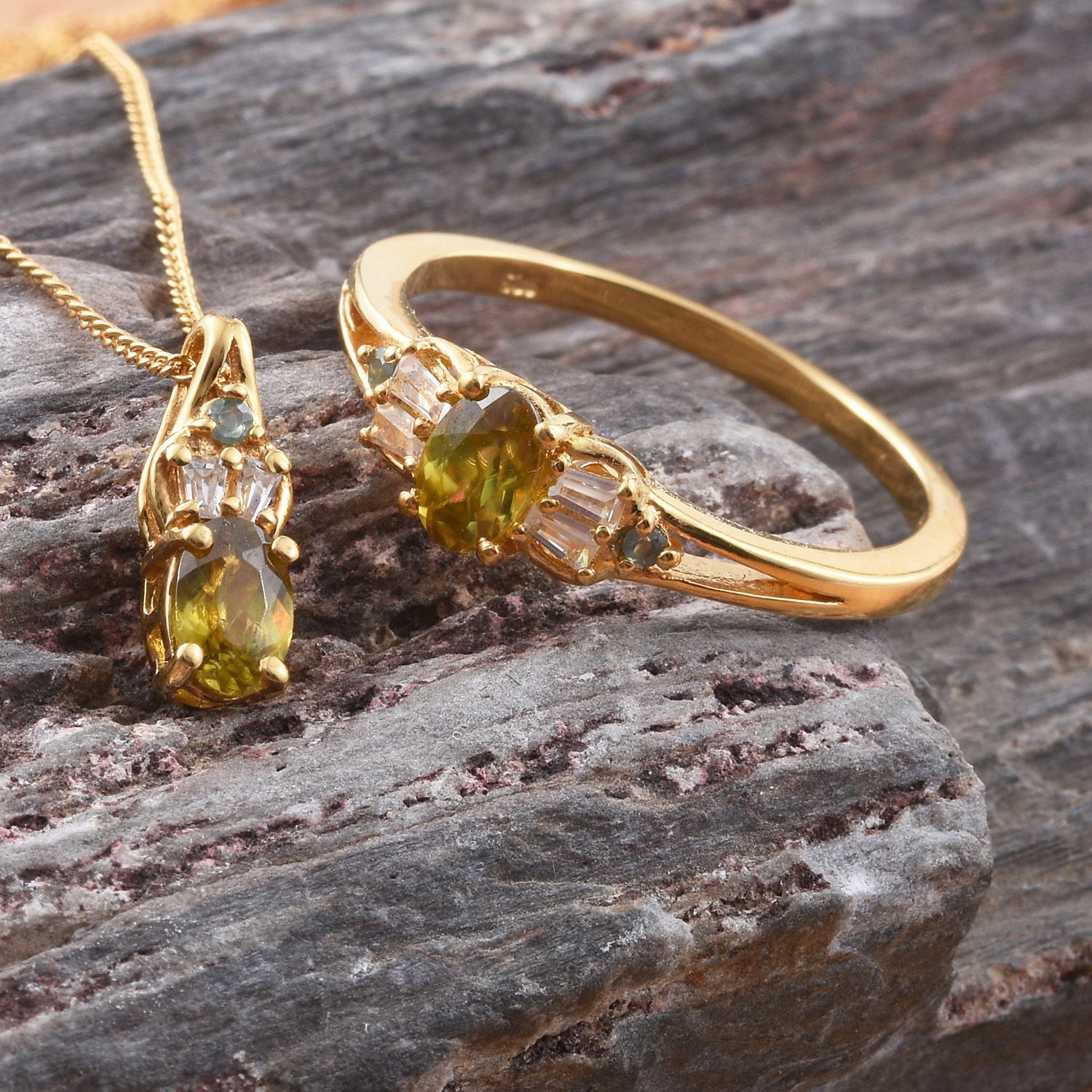 and gemstone rings golden green color by glints with red cut sphene pin oval yellow certified