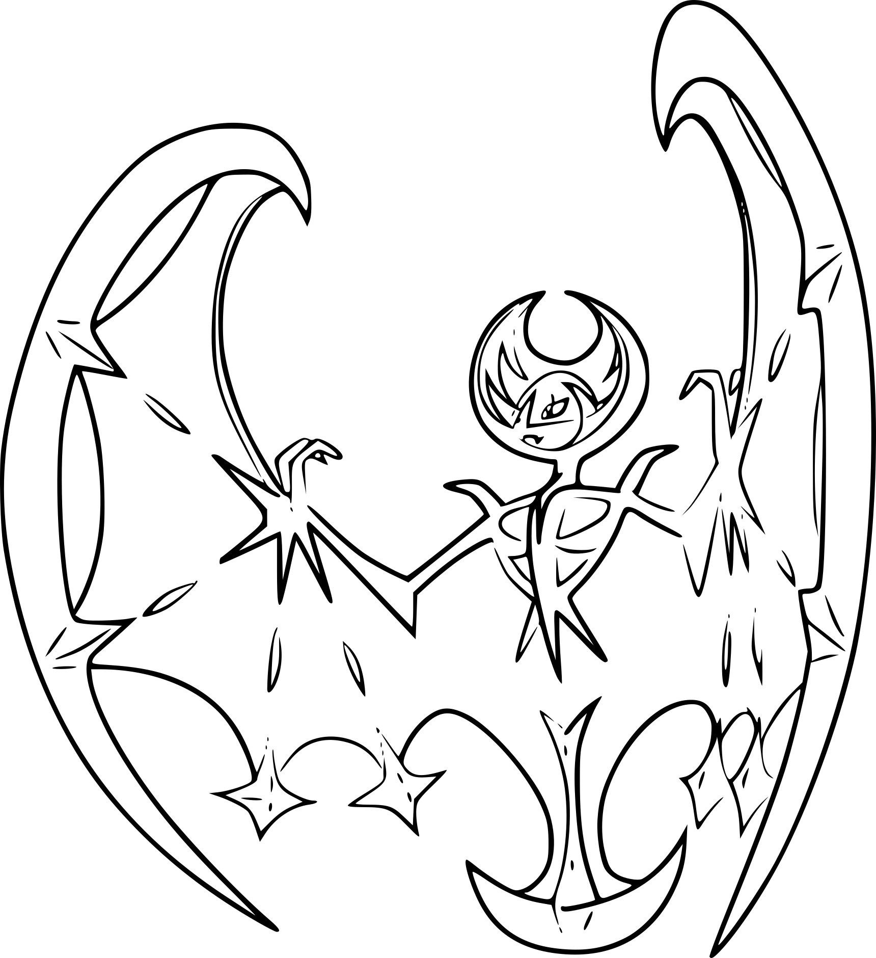 Pokemon Coloring Pages Lunala