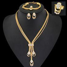 2015 Nový módny Ženy Vintage 18k pozlátené Svadobné drahokamu Nigérijský Svadobné Africkej korálky šperky Set CrystalFreeDelivery (Čína (pevninská časť))