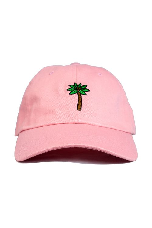 Men s Clothing — Palm Tree Dad Hat in Pink  1bbf163e6818