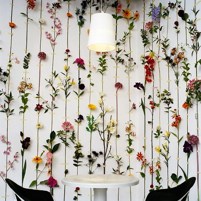 How To Make A Flower Holder That Hangs Up From Wallpaper