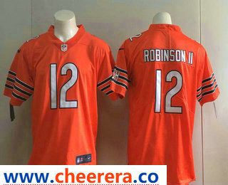 Men s Chicago Bears  12 Allen Robinson II Orange 2017 Vapor Untouchable  Stitched NFL Nike Limited Jersey fe45a2d8f