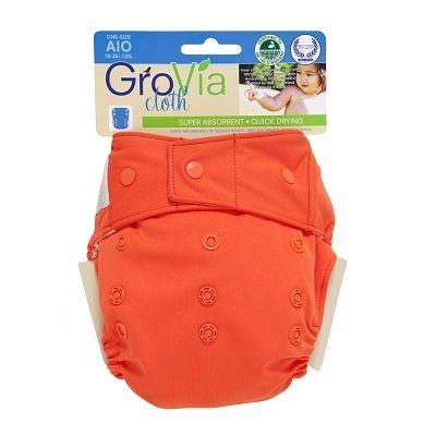 GroVia Cloth Diaper Shell -Snaps | Persimmon | $16.95 | EcoBuns | www.EcoBunsStore.com