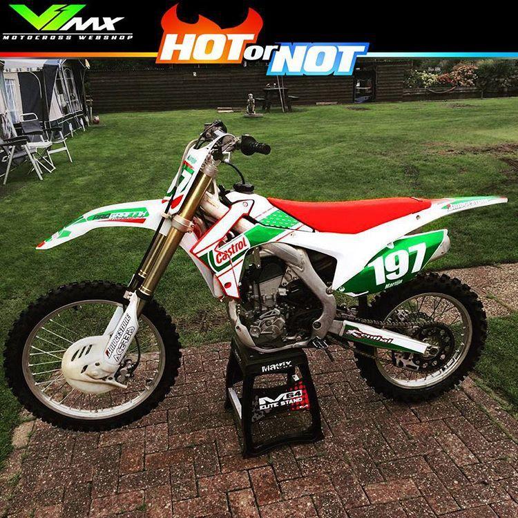 Motocross Enduro Webshop On Instagram Hot Or Not Honda Crf250r Rob Herring Retro Replica Build By Mxmartijn Hotorno Dirtbikes Cafe Racer Bikes Motocross