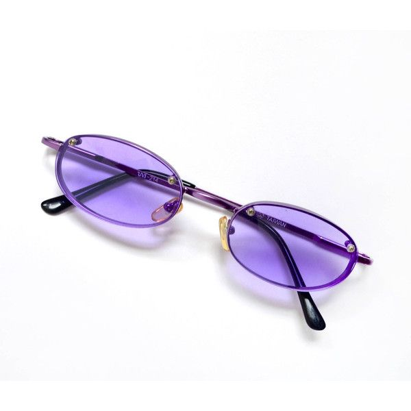 5646762fd Vintage 90's Small Purple Tinted Sunglasses (£50) ❤ liked on Polyvore  featuring accessories, eyewear, sunglasses, tinted lens sunglasses, tinted  glasses, ...