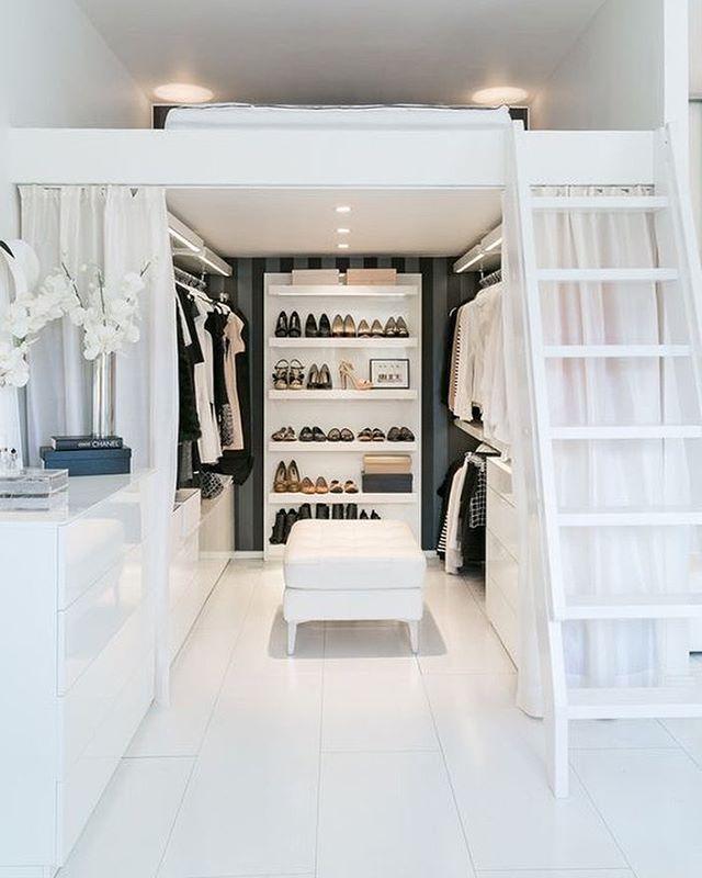 75 Cool Walk In Closet Design Ideas Small Loft Bedroom Small Room Design Small Bedroom Designs