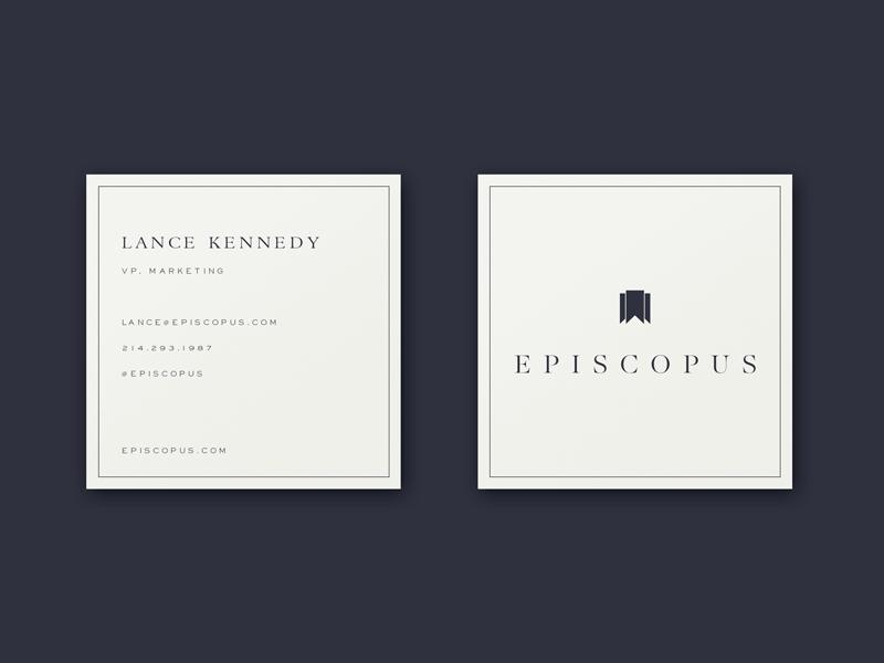 PSDREPO - Square Business Card Mockup