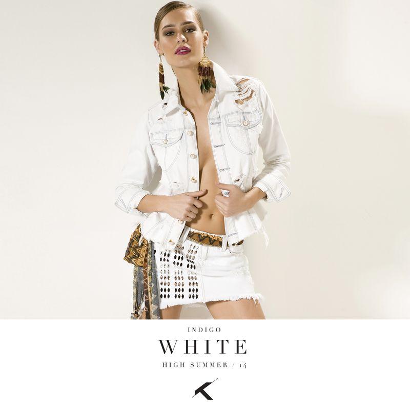 Moikana Indigo White