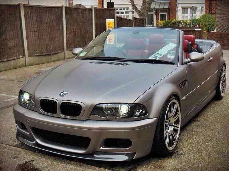 bmw e46 m3 cabrio in matte grey bmw beautiful bmw. Black Bedroom Furniture Sets. Home Design Ideas
