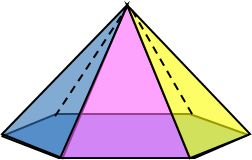 3d Hexagonal Pyramid Image Geometry Teaching Geometry 3d Shapes Worksheets