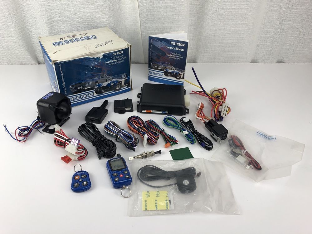 security system remote start carroll shelby cs 750r rare new open rh pinterest com shelby remote start clicker Remote Starter Wiring Diagrams