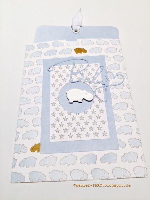 papierZART : Baby (3), Babykarten, Hippos, Babygeburtstag, Mädchen ...