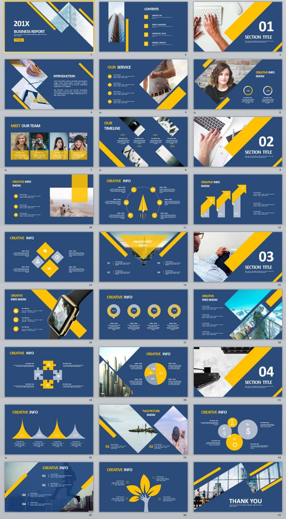 27 creative charts swot slide powerpoint template presentation