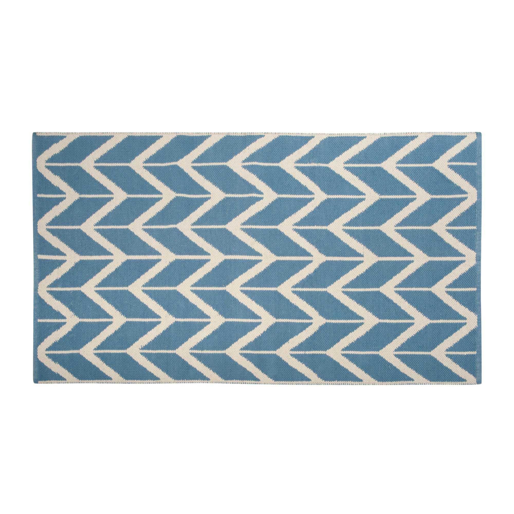 Teppich Baumwolle Blau   Dekoration Ideen
