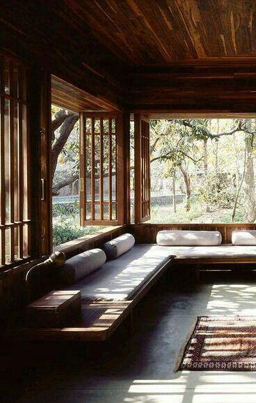 Seating beneath windows in porch also mood modern interior rh pinterest