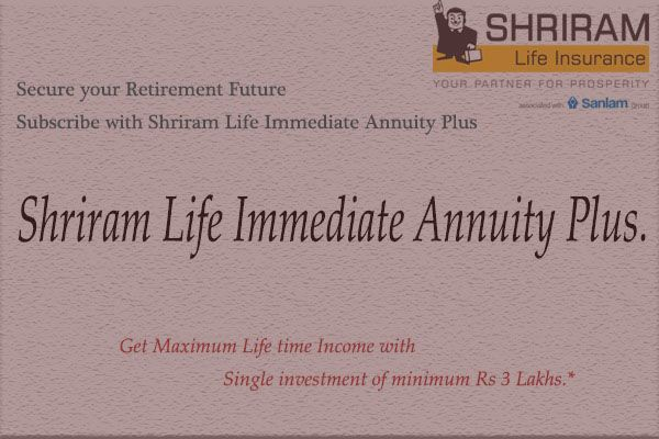 Best Annuity Plan Has Been Launched By Shriram Life Insurance