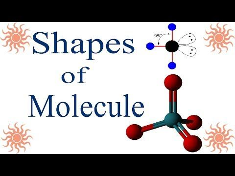 Shapes of Molecule in Urdu Hindi Lecture Chemistry for all - molecular geometry chart