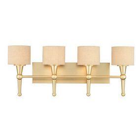 Thomas Lighting 4 Light Allure Couture Gold Art Glass Bathroom