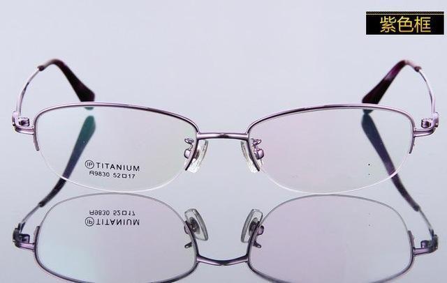 haoyu Ultra Light pure Titanium Women Spectacle Frame Female Prescription Myopia reading Eyewear Armacao De Oculos De Grau