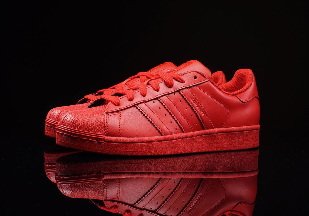 Adidas Originals RED Superstar Supercolor Pack Pharrell Williams S41833 Sz:  8-13