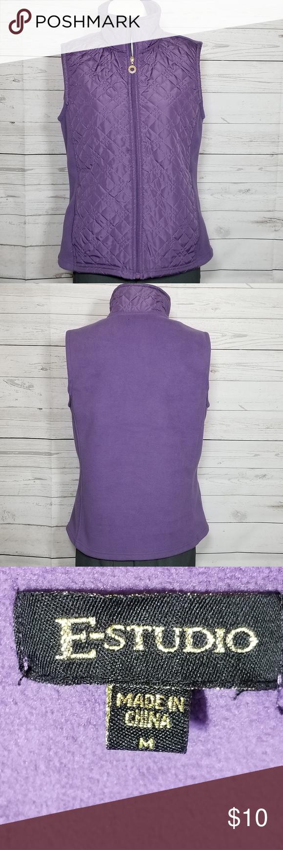 🌼E Studio Womens Quilted Vest Size Medium