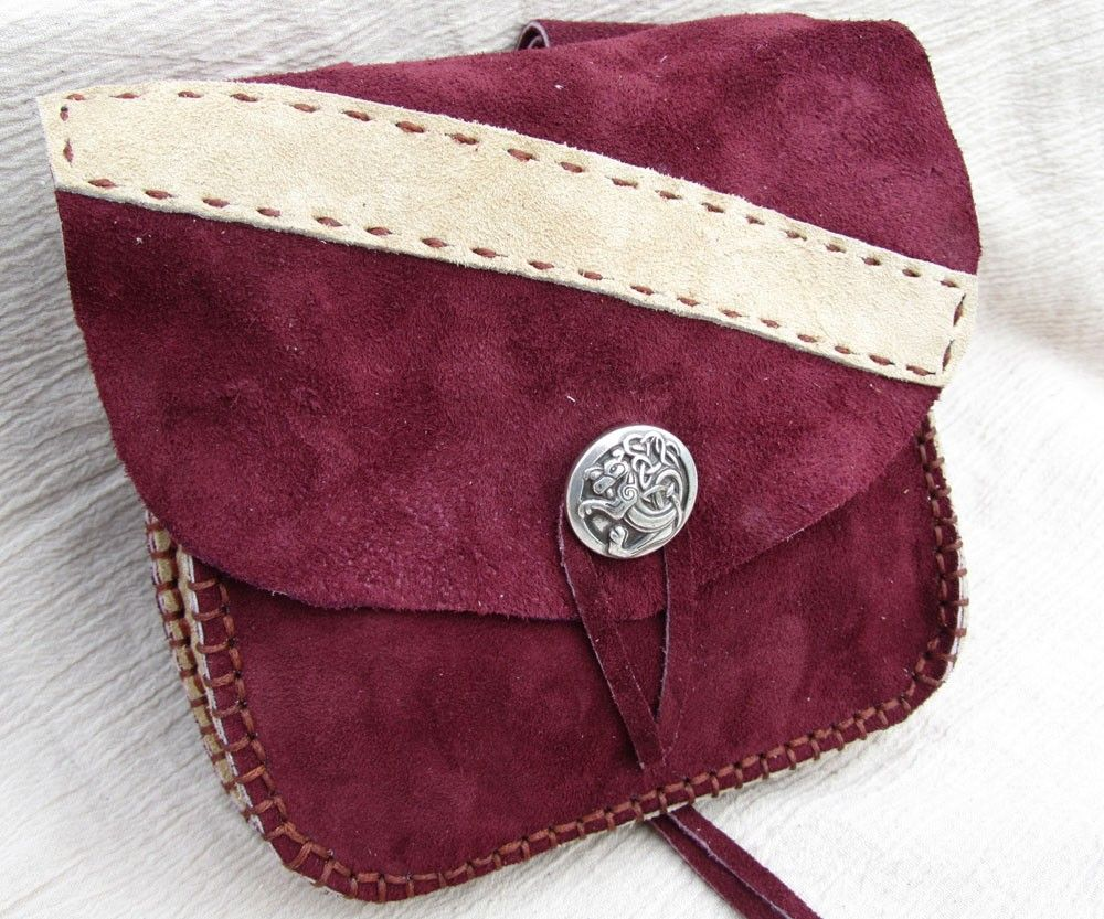 Leather Belt Pouch Bag SCA LARP Fantasy or by EarthlyLeatherDesign, $49.99
