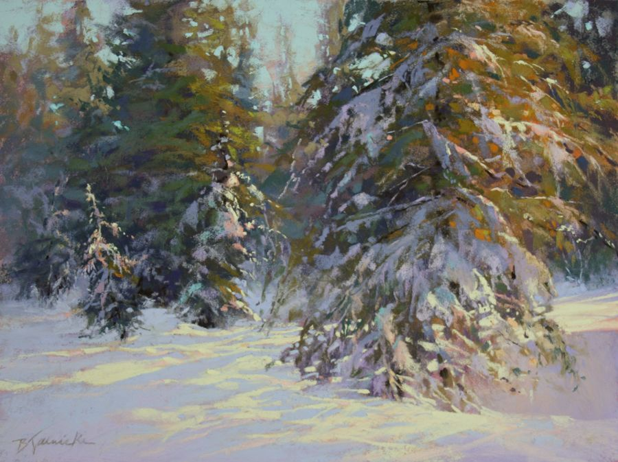 Okay So I Say Peachy Pink A Lot I Use The Term When I Try To Explain To Students How To Handle Light Pastel Landscape Painting Competition Winter Painting