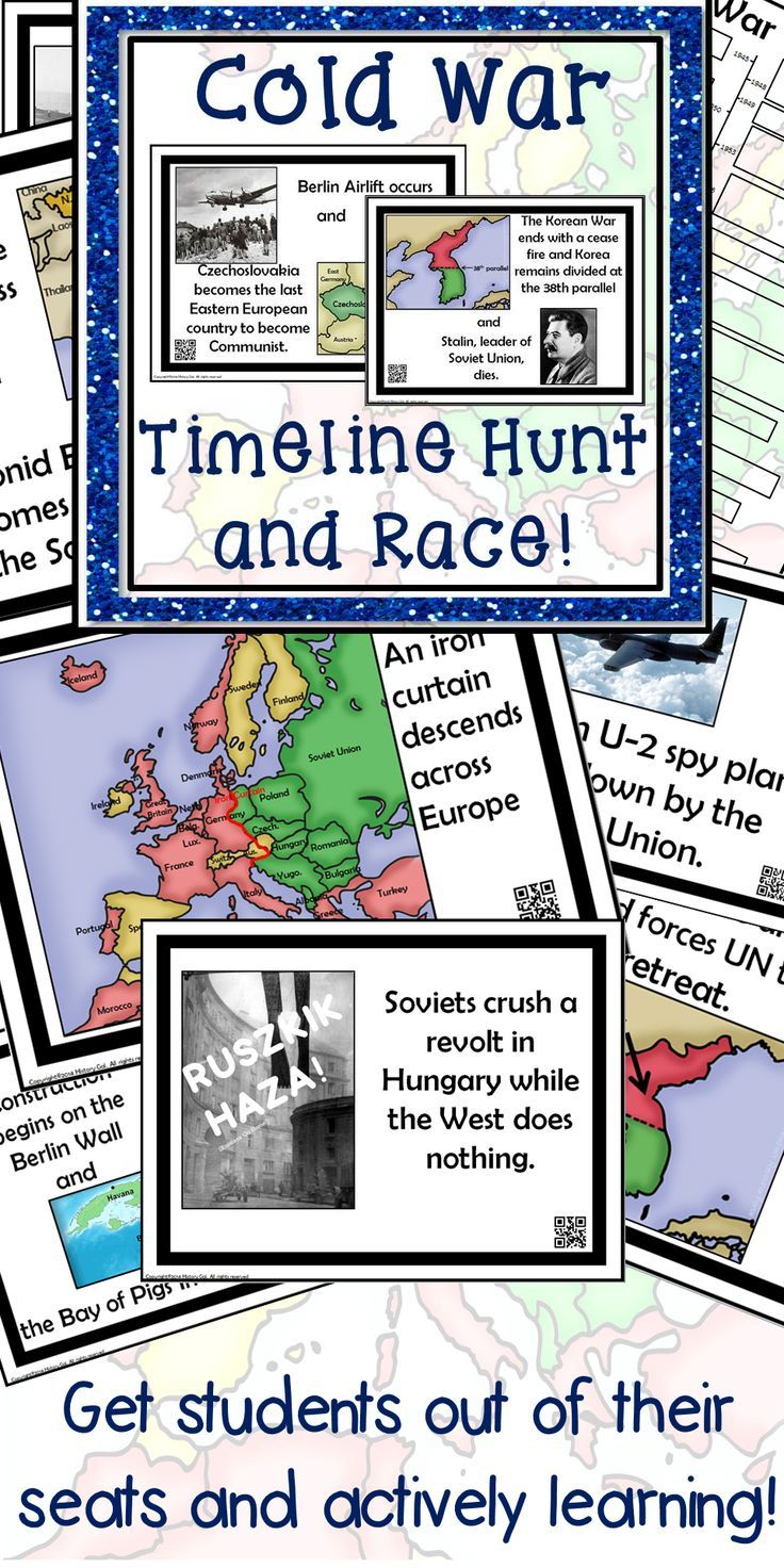 Cold War Timeline Activity   Cold war lessons [ 1472 x 736 Pixel ]