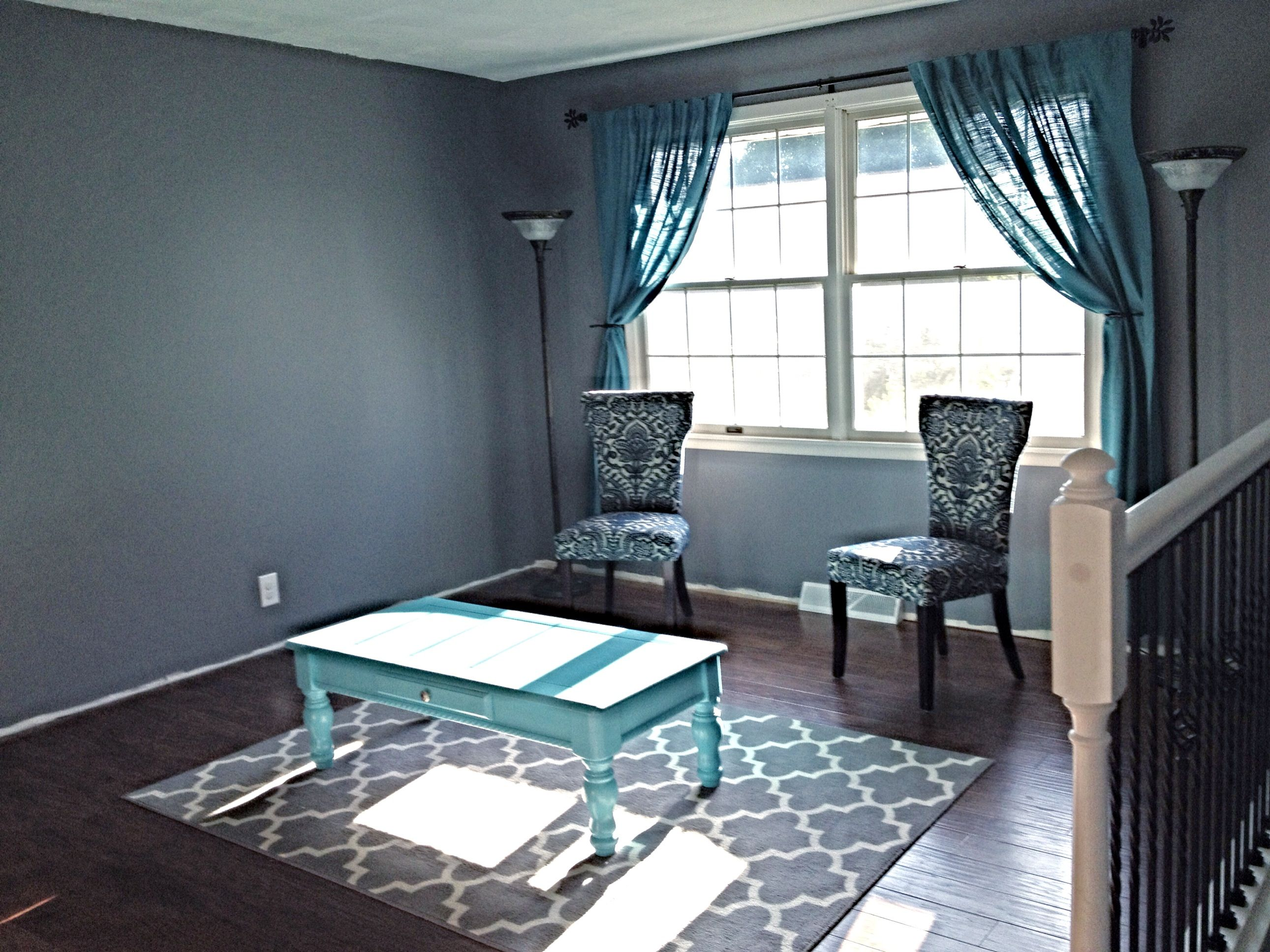 Gray and Teal living rooms catalog photo