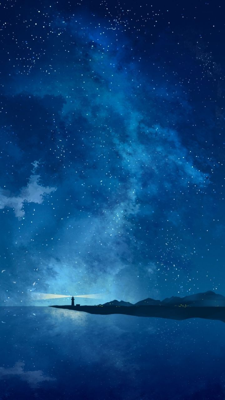 720x1280 Anime Scenic 720x1280 Wallpaper Id 294084 Mobile Abyss Anime Scenery Night Sky Wallpaper Scenery