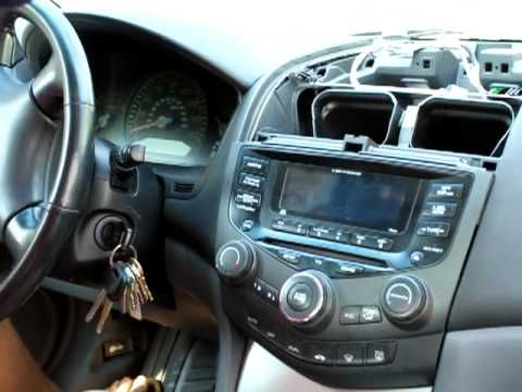 How To Remove Stereo Cd Player From Honda Accord 2003 2004 2005 2006 And 2007 You