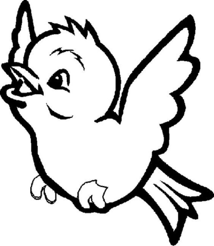 Cute Bird Coloring Page Coloring Pages For Kids In 2019