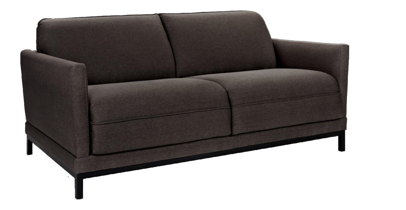 Bach ii sof cama 3 plazas de tela antracita habitat for Sofa cama en tela