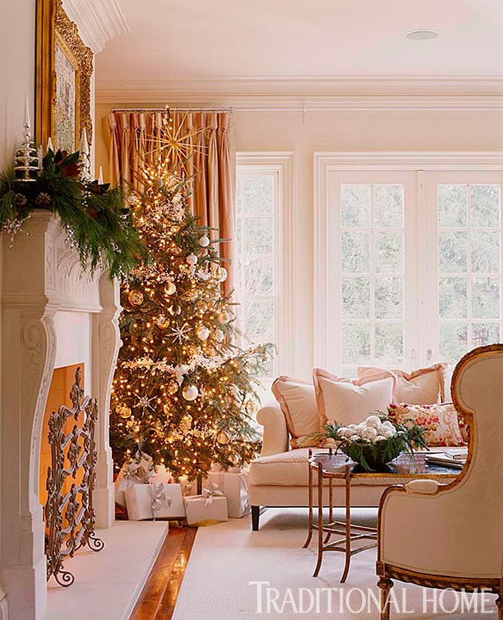 25 Years Of Beautiful Holiday Rooms Christmas Living Rooms