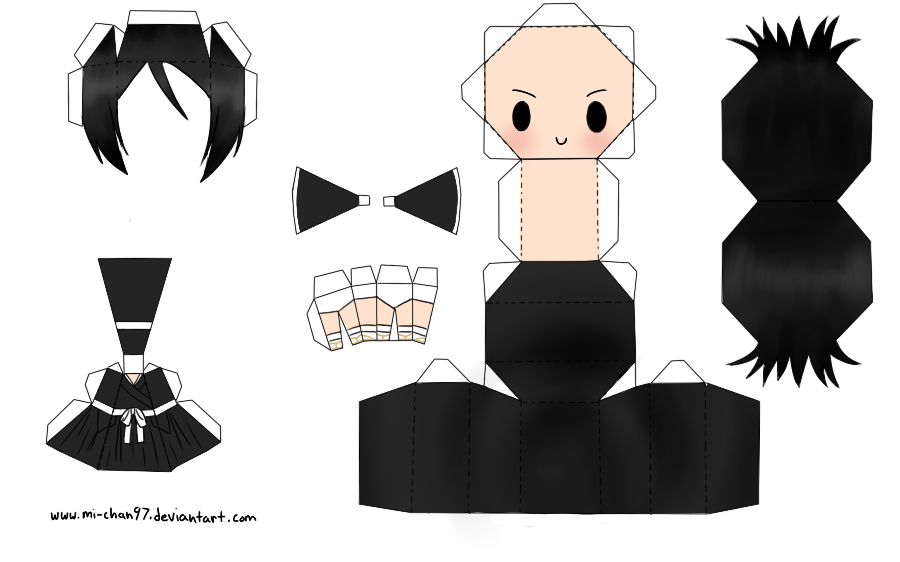 Rukia Papercraft Template by on