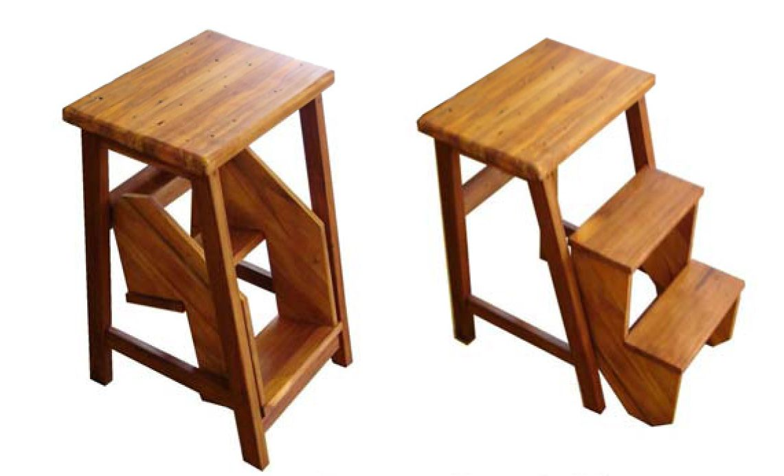 Flip Step Stool Furniture Pinterest Stools Wood Bar