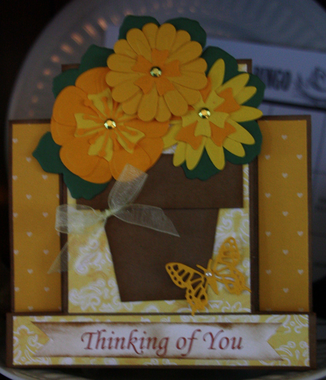 Flower Pot Card, Blank Inside