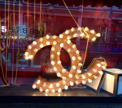 Need this Chanel sign in the window @ Harrods!