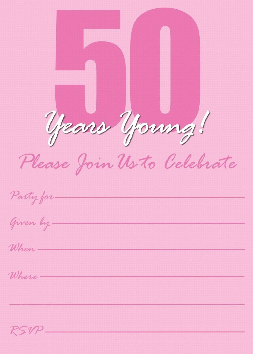50th Birthday Invitation Template Lovely Free Printable 50th Birthday Party Invitation Templates 50freeprintables In 2020 Party Invite Template Birthday Invitation Templates Birthday Party Invitation Templates