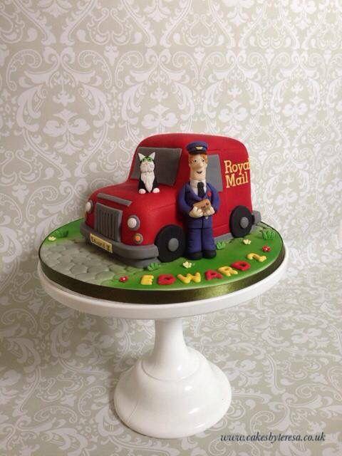 Postman Pat, Jess and Van cake | Cumpleaños ricardito 2 ...