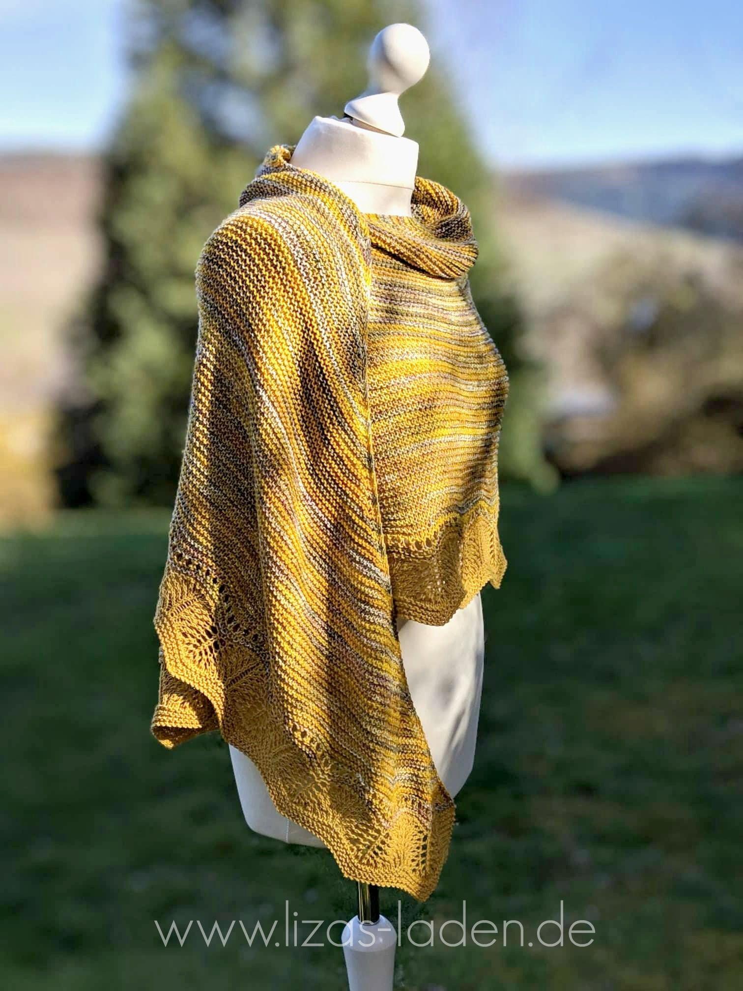 Strickanleitung Fur Ein Halbrundes Tuch Mit Einer Auffallenden