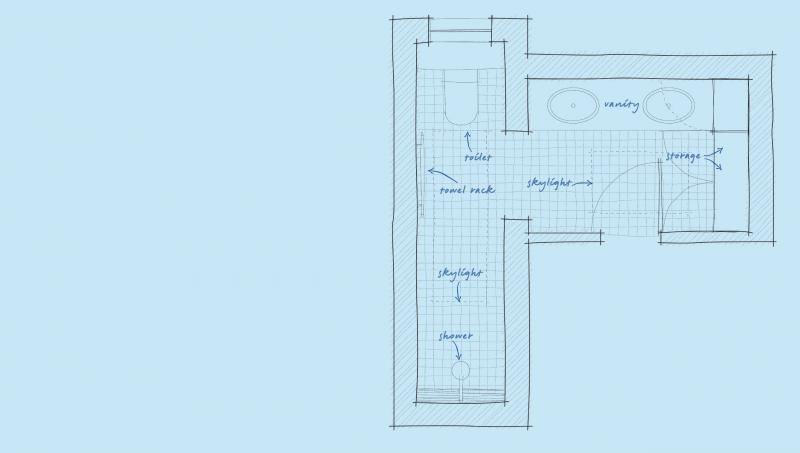 Tiny L Shaped Bathroom Layout - Home Designing