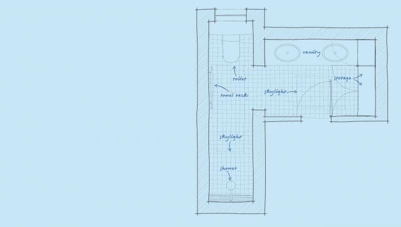 Renovation Solutions Tricky Bathroom Floorplans L Shaped Bathroom Bathroom Renovations Bathroom Remodel Small Diy