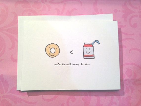 Milk And Cheerios Funny Valentine Youre The Milk To My Cheerios Love Card Anniversary Card Valentines Day Cute Valentine Blank