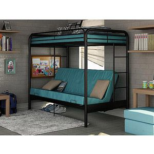 Dorel Twin Over Futon Bunk Bed With Set Of 2 Mattress Black I Like