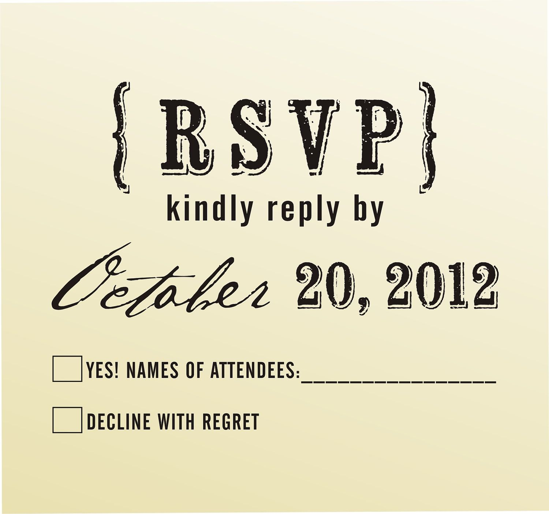 Rsvp Rubber Stamp For Custom Diy Wedding Invitations Style 6039rsvp Stationary
