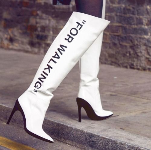 c75e65f2a20 Shop Off-White White For Walking 120 knee boots at Browns and browse  designer Boots. Knee High Boots