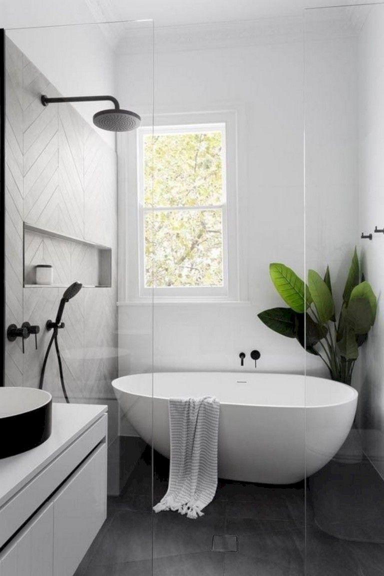 41 Gorgeous Small Bathroom Remodel Bathtub Ideas Modern Master Bathroom Decor Bathtub Remodel Small Bathroom Remodel