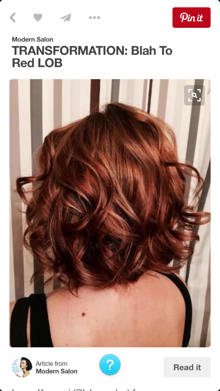 Love the style length and color haircut style pinterest hair