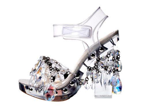 Prada Spring 2010 \'chandelier\' crystal sandals - always regret not ...